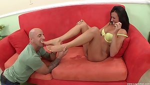 Hardcore screwing on the sofa with adorable Danica Dillion. HD