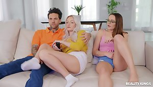 Smashing day-bed porn hither sister's hot boyfriend