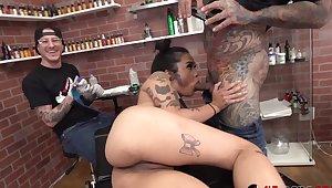 Jada Cruz gets a new tattoo then fucked