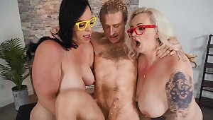 Chubby matures Virgo Peridot and Kendra Kox have a threesome