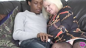 Grannylovesblack - Cold guest up in my asshole - Interracial