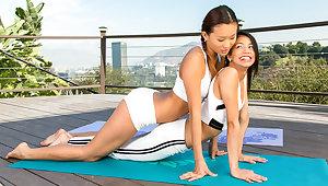 Yoga on every side two hotties