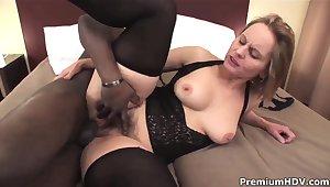 Big ass milf Magda win pleasured by black stud