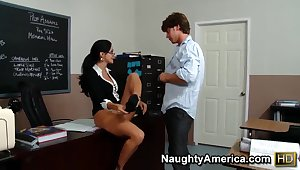 Milf Ava Addams teaches her student Seth Adventure howto fuck