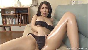 Stunning Japanese Ayumi Shinoda can't brandish to please their way lover badly