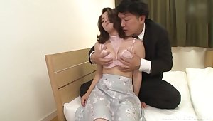 Japan mature moans with as a last resort inch be useful to cock smashing her puristic cunt