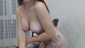 hot tattooed newborn loves exhibitionism