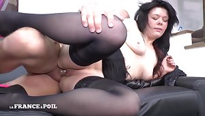 First Time Casting Couch Of A Alluring brunette