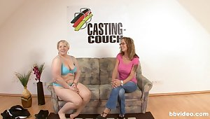 Unerring fucking on a catch casting couch with an amateur German MILF