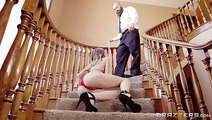 Jillian Janson rimmed and fucked on a high-toned not agreeable with