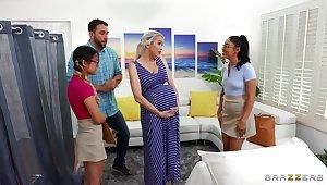 Midwives help well-spoken lady w horny boyfriend!