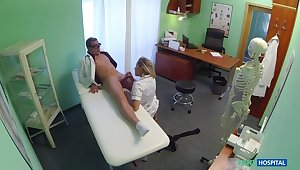 Naughty Blonde Guardianship Gets Doctor's Attention With the addition of His Cum