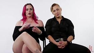 Loyalty Test: Lesbian Swopping everywhere Bound Orgasms